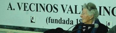 María Luisa Suárez en la A.V. Valle Inclán