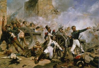 Defensa del parque de artillería de Monteleón de Joaquín Sorolla