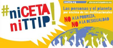 Cartel anti CETA y TTIP