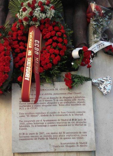 Homenaje Abogados Atocha